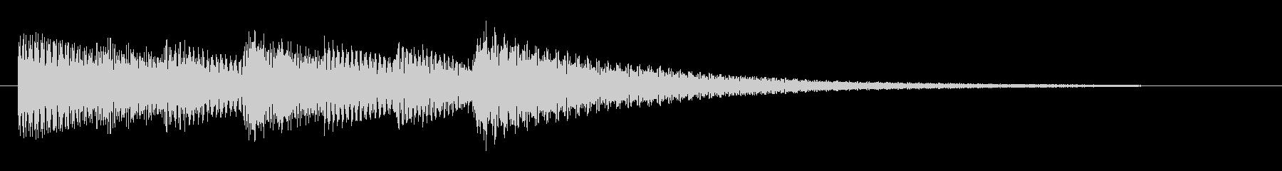 明るめのエレピのジングルの未再生の波形