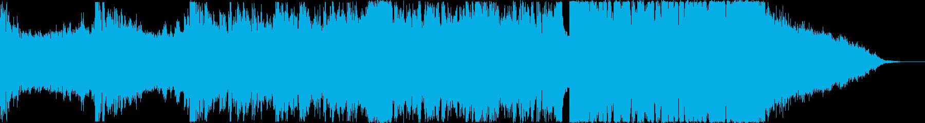 決戦の始まりのような高揚感のあるEDMの再生済みの波形