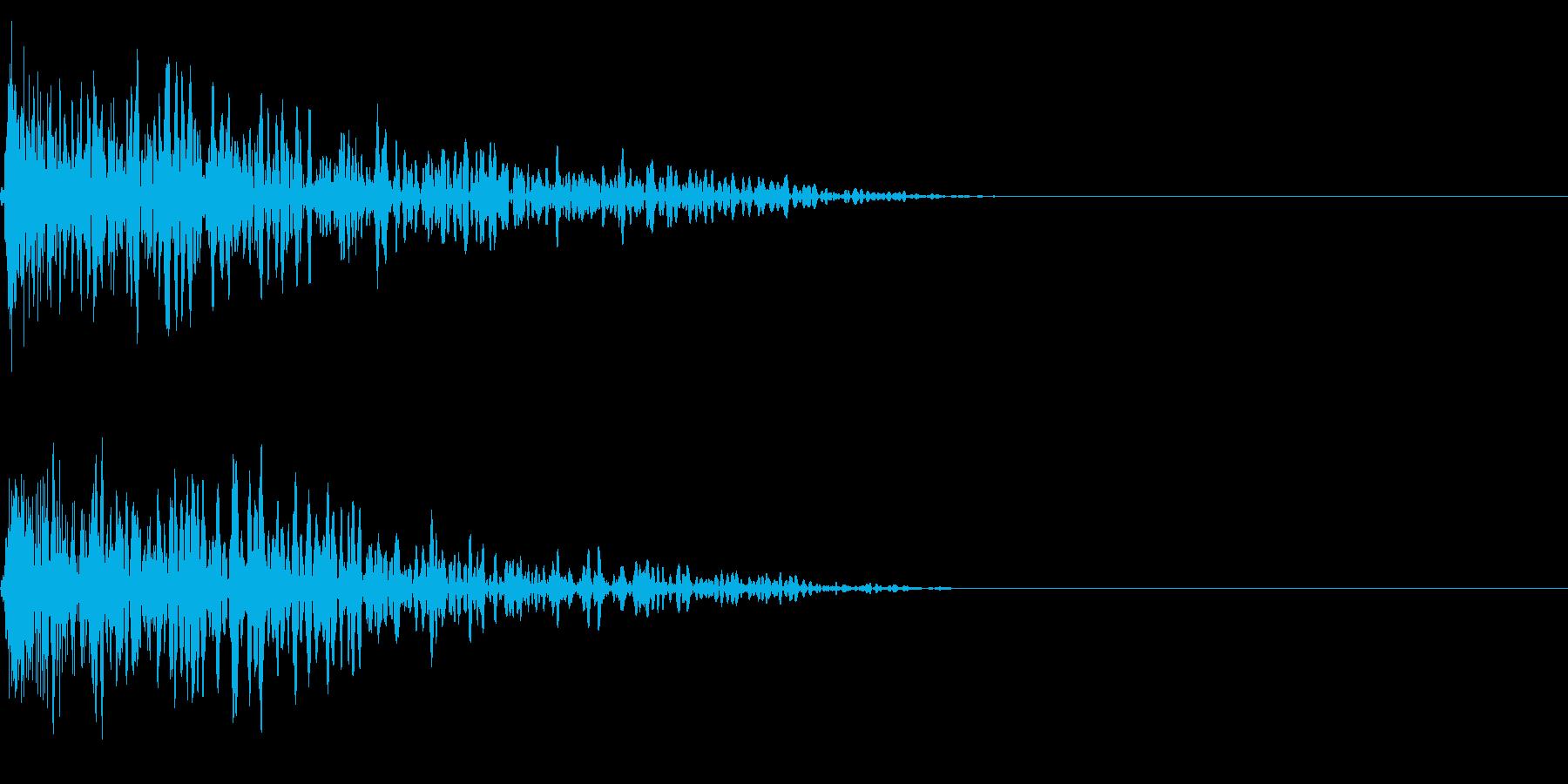 ボカーン (落雷・炎の魔法・爆発音)の再生済みの波形