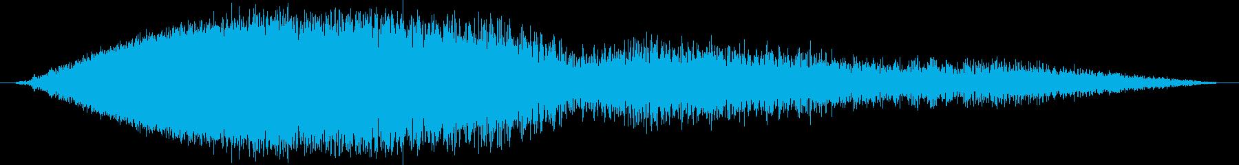 ヒューンシュワシュワ (飛行する音)の再生済みの波形