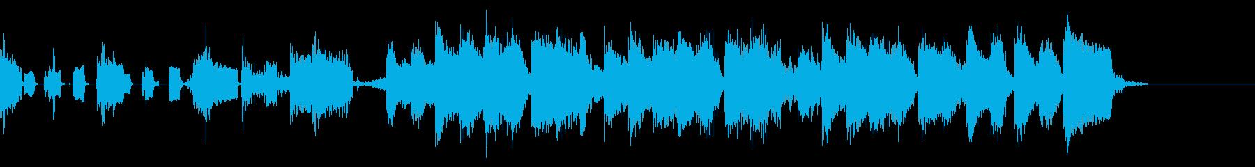 キッチンの音を取り入れた日常用ジングルの再生済みの波形