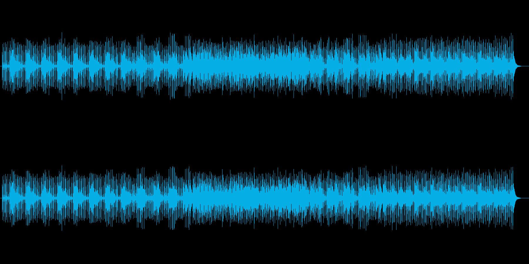 クールなテクノミュージックの再生済みの波形