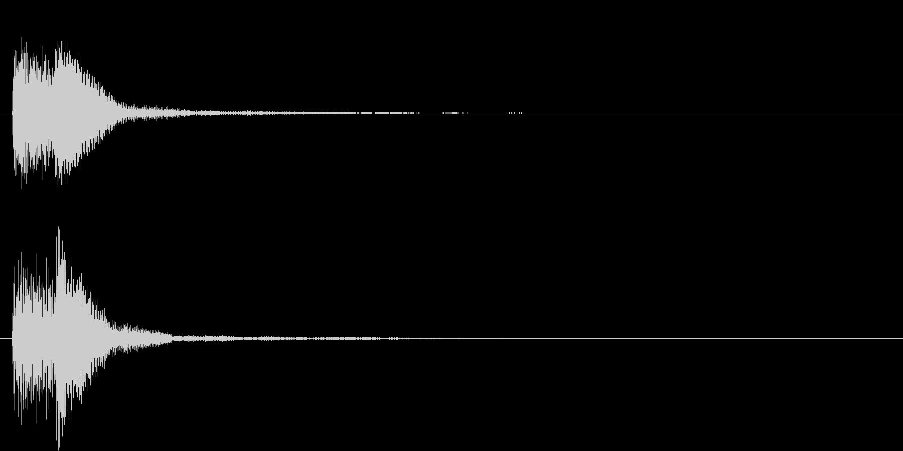 ピアノによるクリック音の未再生の波形