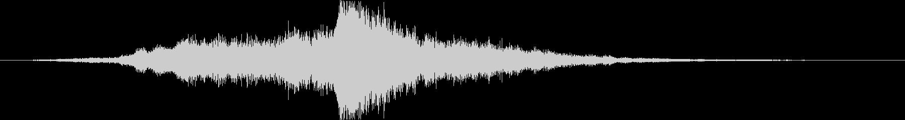 音楽ロゴ;シンセサイザーフルート、...の未再生の波形