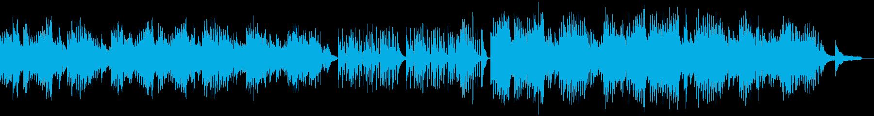 穏やかな日常を演出するソロピアノの再生済みの波形