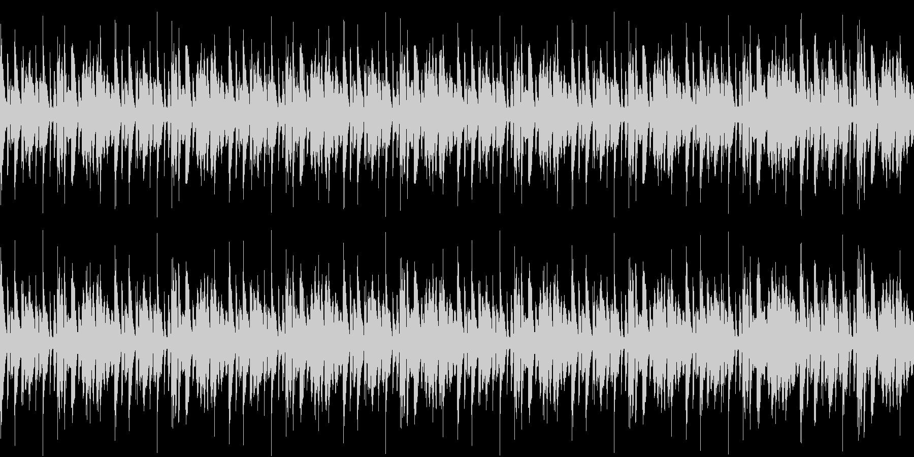 おしゃれで軽快なループ用BGMの未再生の波形