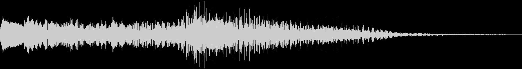 爽やかなピアノのジングル14の未再生の波形