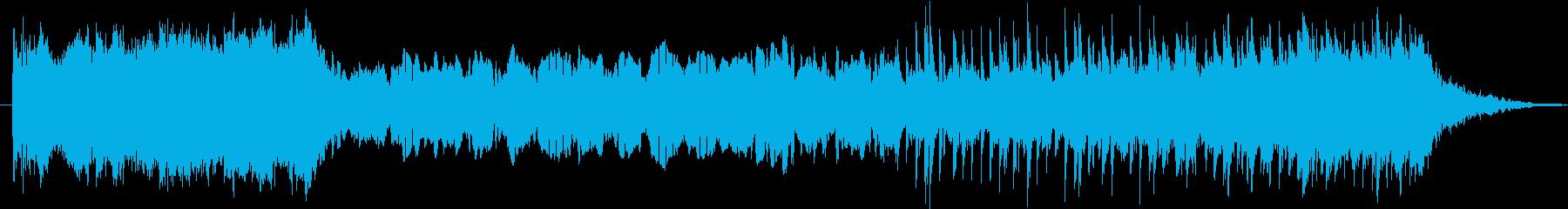 パワフルでオーケストラ的な電子サウンドの再生済みの波形
