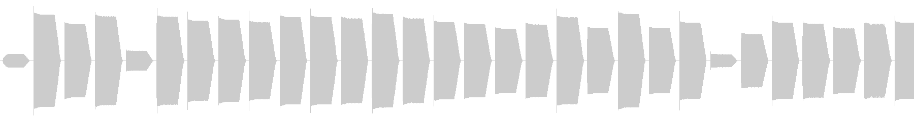 コンピューター 計算、解析音(高い音)の未再生の波形