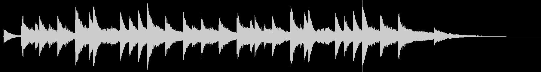 モミの木モチーフXmasピアノジングルDの未再生の波形