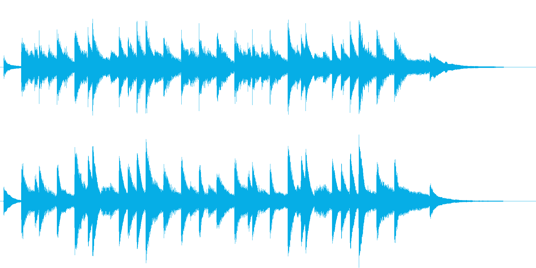 モミの木モチーフXmasピアノジングルDの再生済みの波形