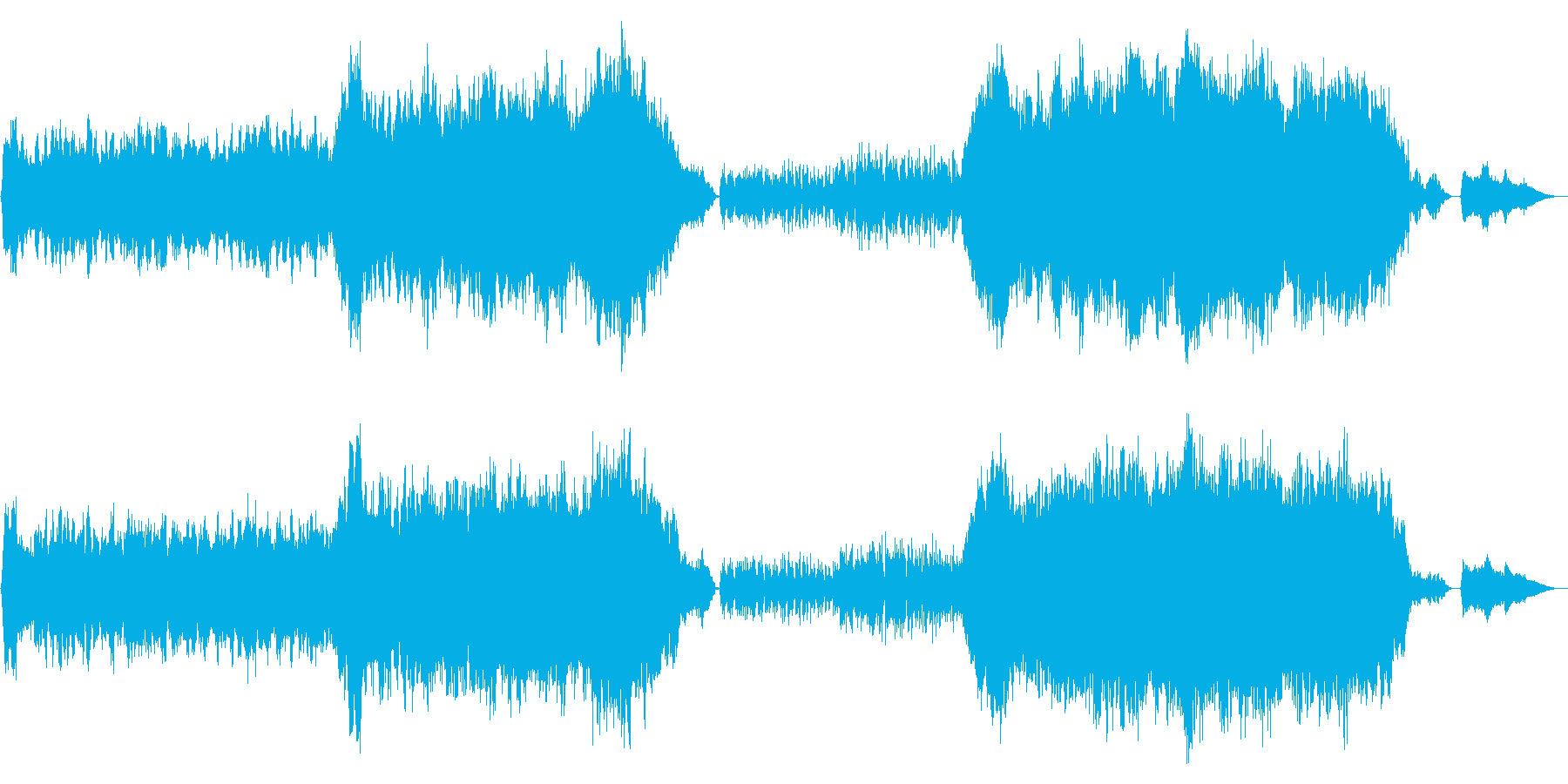 人生の波を歌った管弦楽曲_重厚と軽快との再生済みの波形