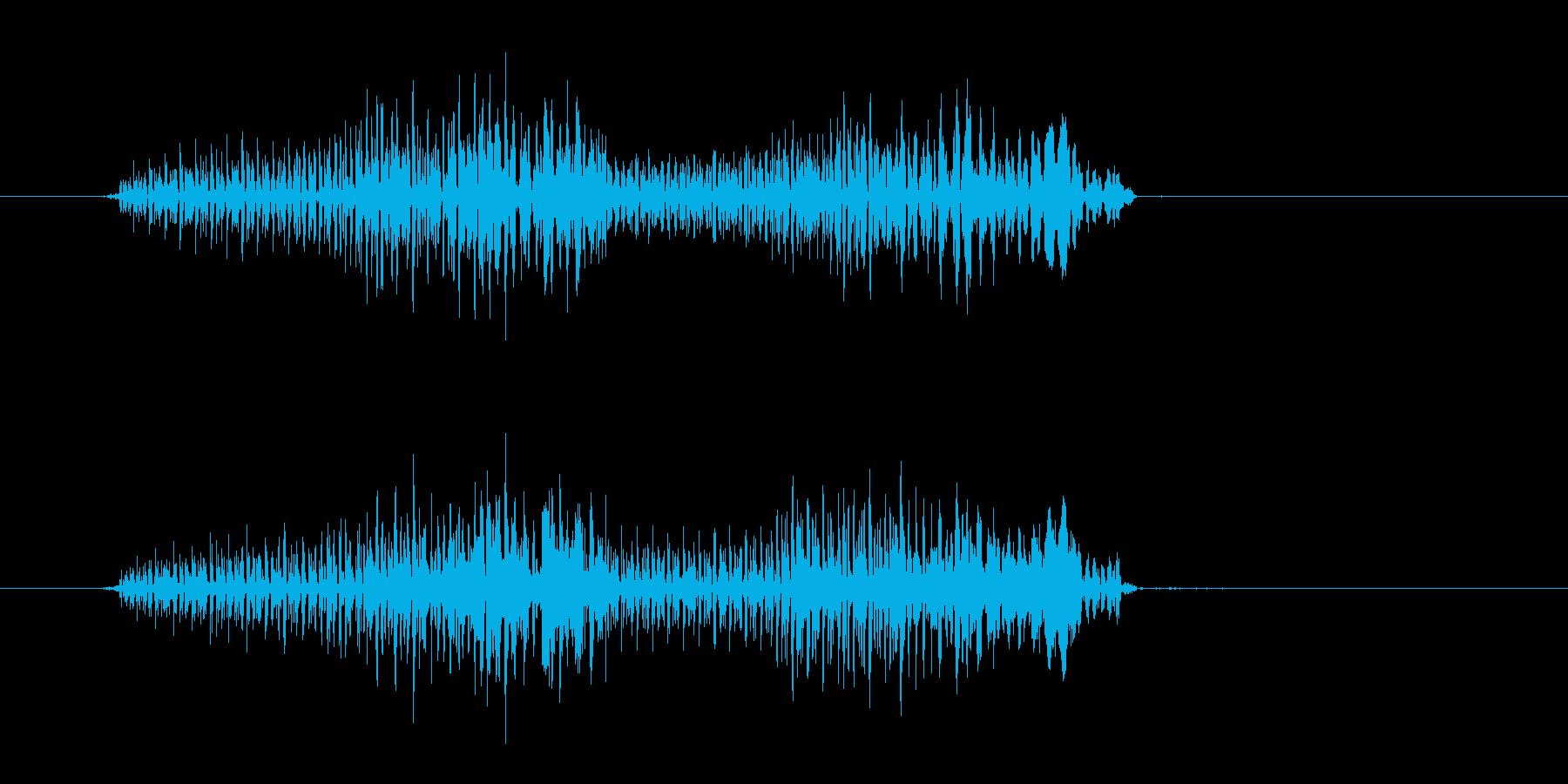 アイテム破壊時などのダイアログ表示の音の再生済みの波形