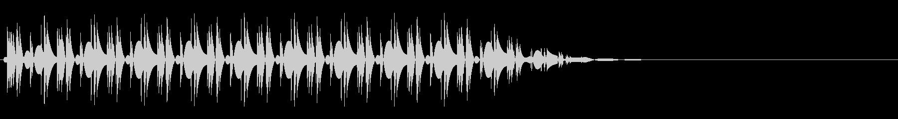 クイズ不正解(ブッ)の未再生の波形