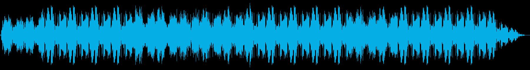 Reverse playback slow Lofi vague past's reproduced waveform