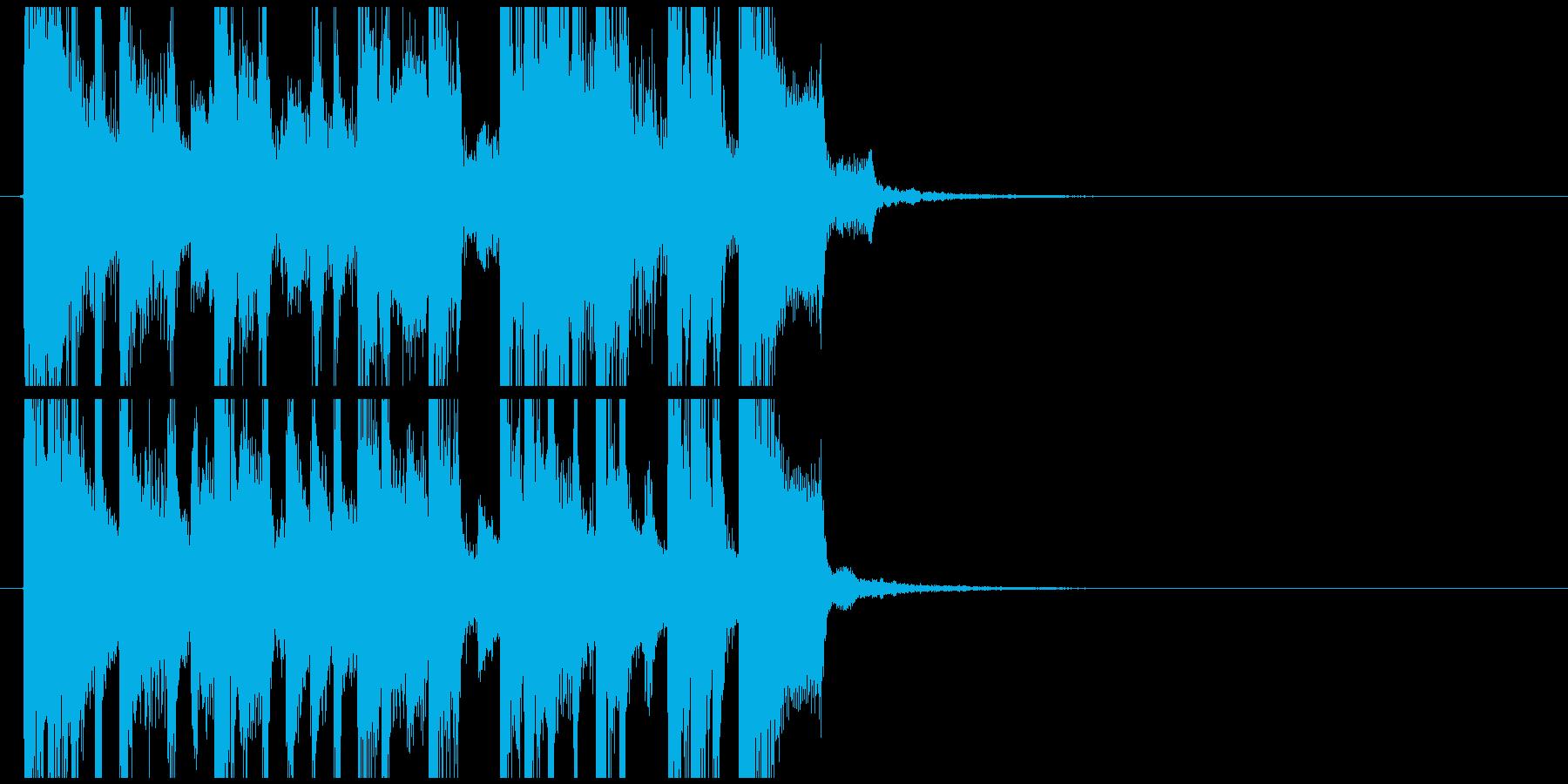 ラジオジングル1の再生済みの波形