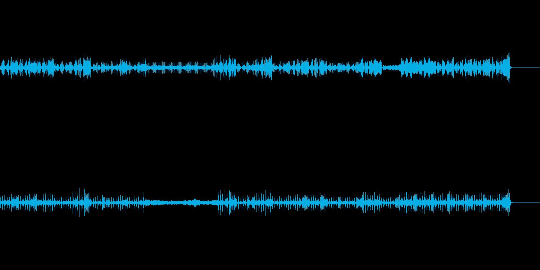 ほのぼのムードの曲の再生済みの波形