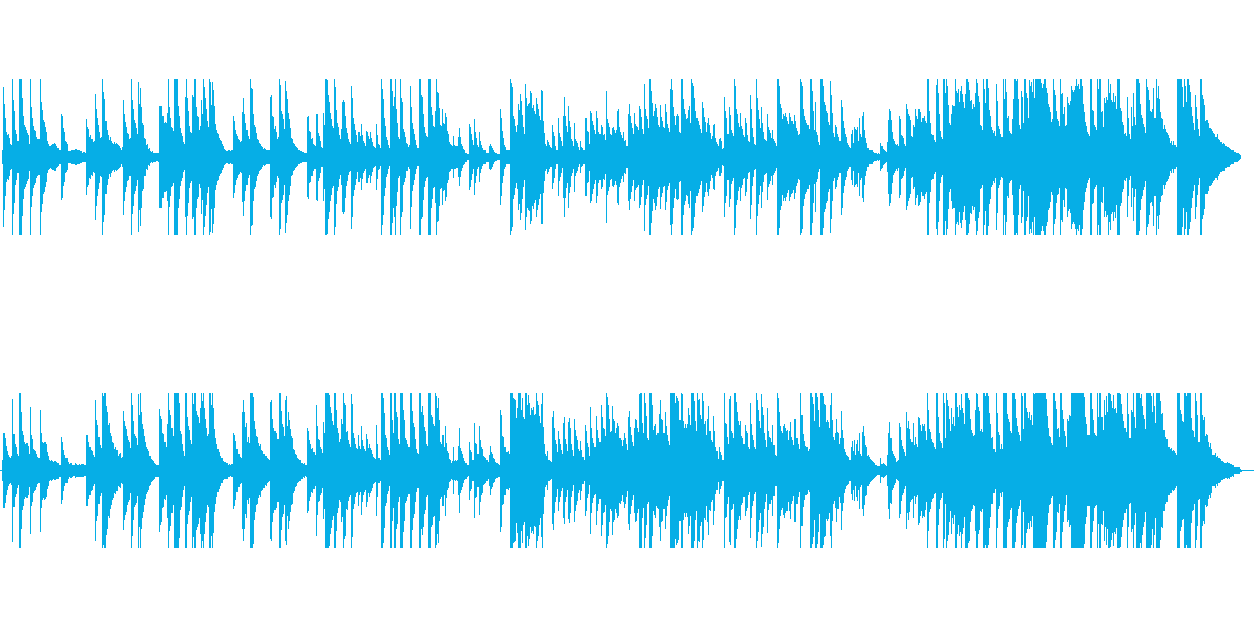 ワーグナーの結婚行進曲ピアノソロの再生済みの波形