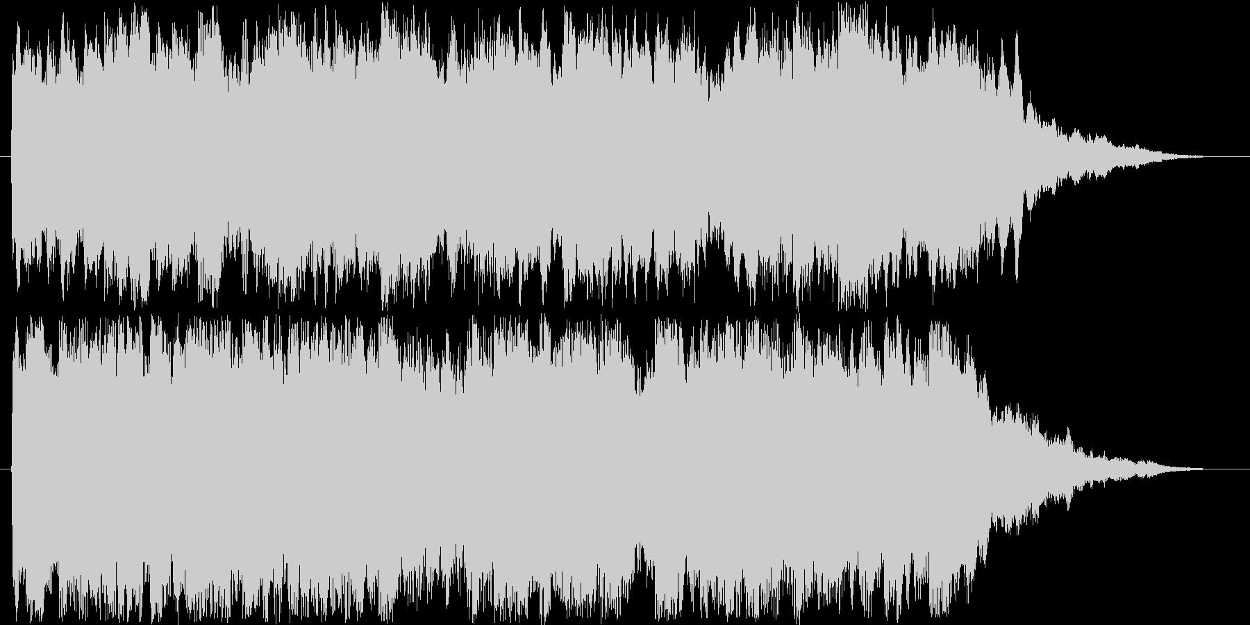 駅のチャイムにような18秒のチャイムですの未再生の波形