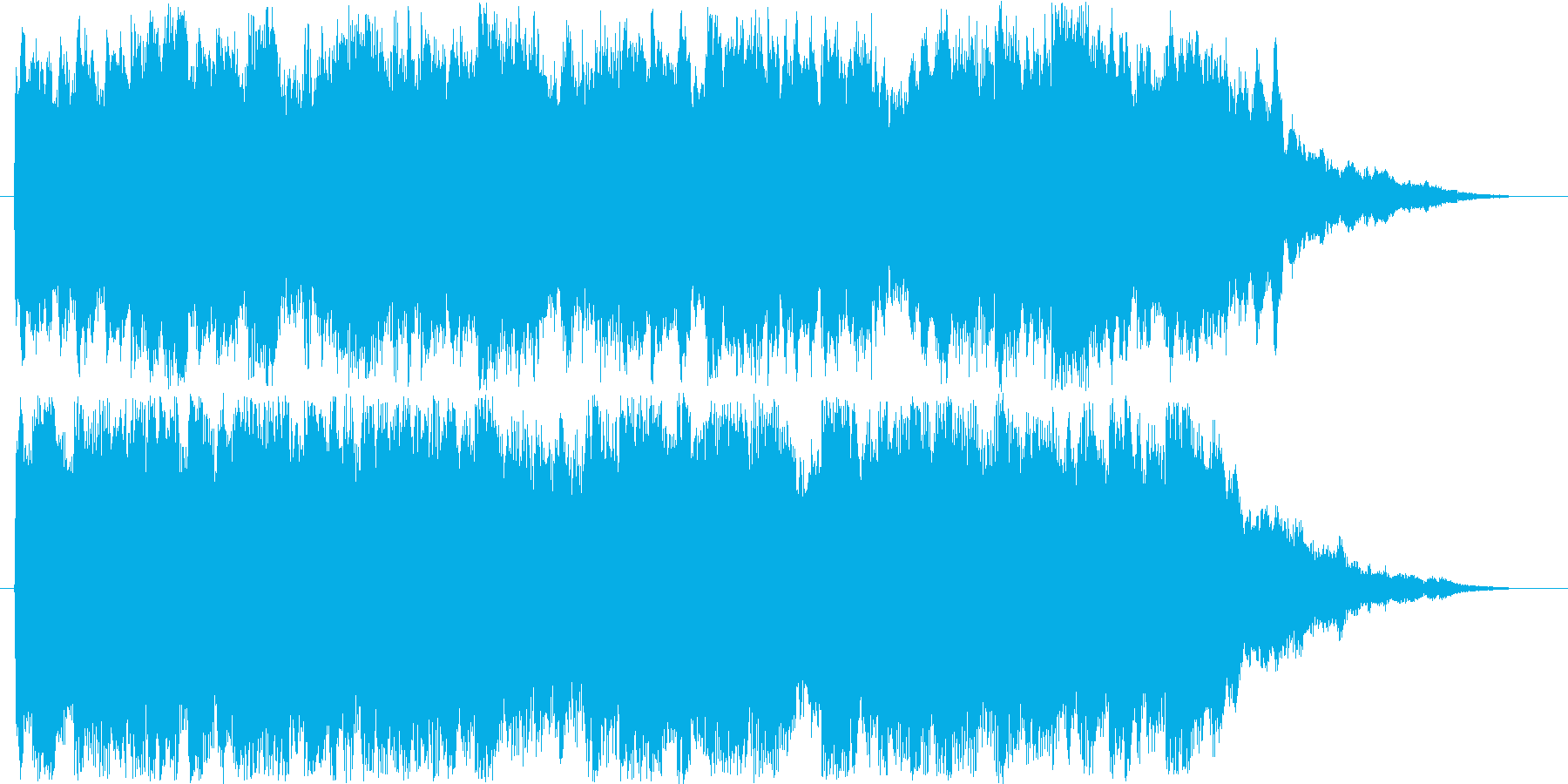 駅のチャイムにような18秒のチャイムですの再生済みの波形