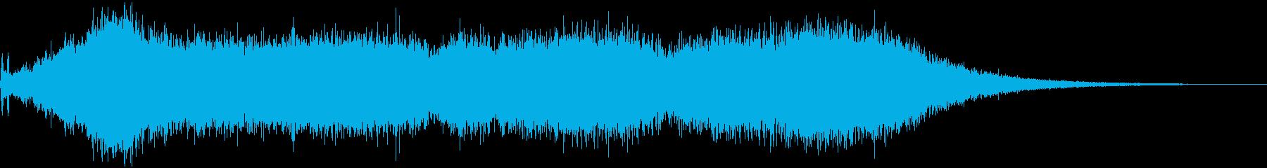 電気のこぎり:高音域での安定したモ...の再生済みの波形