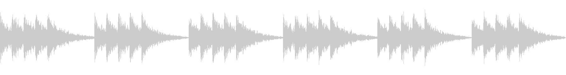 星空のイメージ ベル系の音でシンプルにの未再生の波形