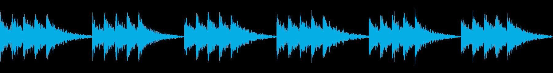 星空のイメージ ベル系の音でシンプルにの再生済みの波形