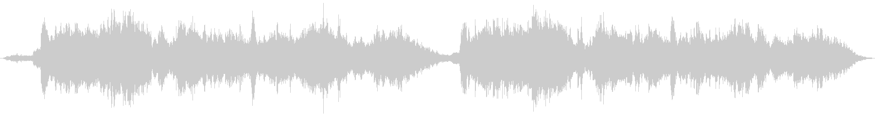 幻想的な即興インスト曲の未再生の波形