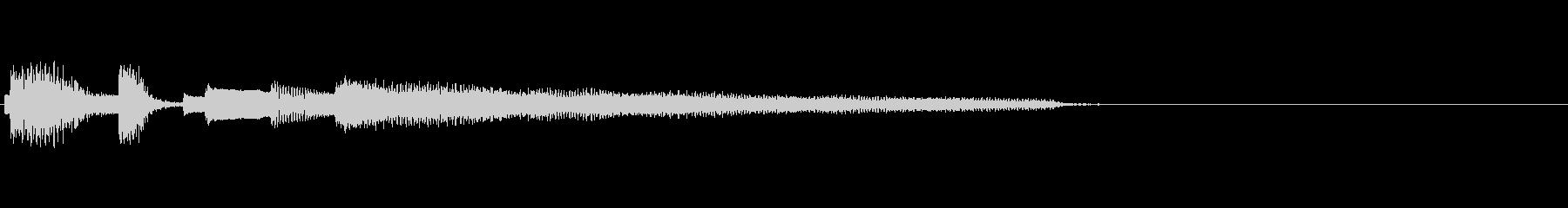 おしゃれなエレピのジングル2の未再生の波形