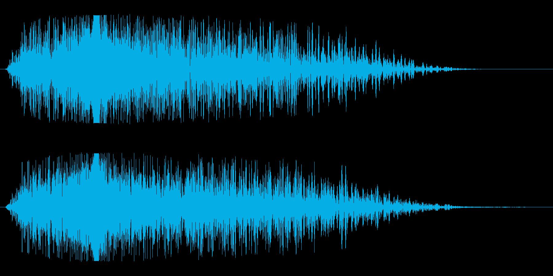 ワープ突入(一瞬でワープする効果音)の再生済みの波形