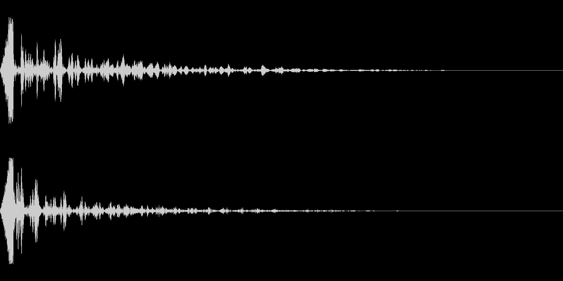 ホラー系アタック音136の未再生の波形