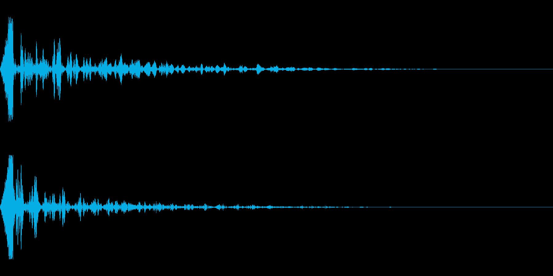 ホラー系アタック音136の再生済みの波形