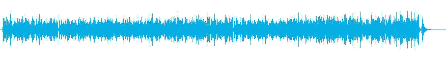 スイング感あふれる明るめのジャズナンバーの再生済みの波形