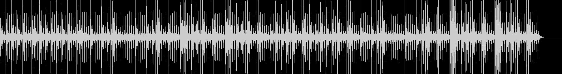 ノスタルジックで幻想的なオルゴールの未再生の波形
