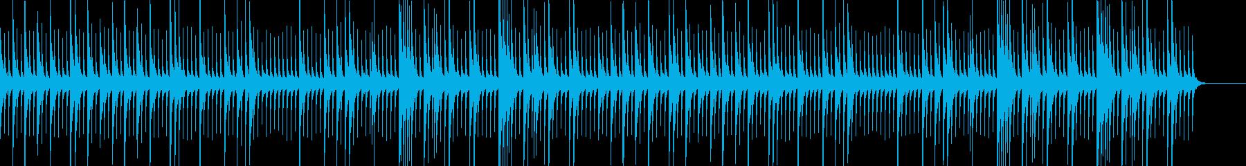 ノスタルジックで幻想的なオルゴールの再生済みの波形