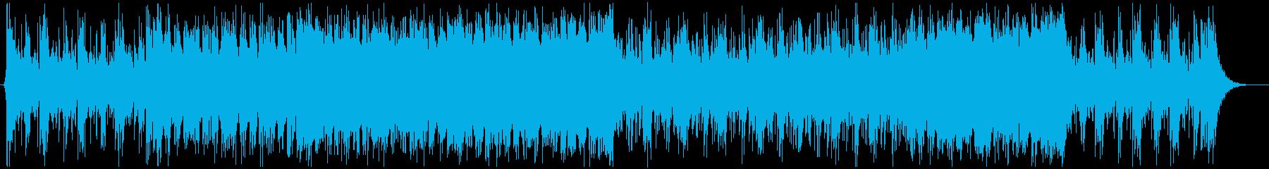 映画トレイラー風BGMの再生済みの波形