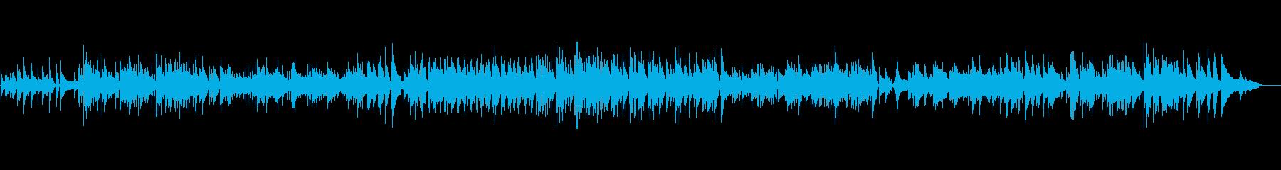 アコースティックで落ち着いたボサノバの再生済みの波形
