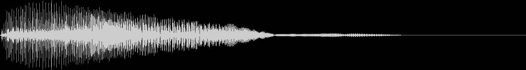 Game ヨッシー風のキャラクター選択音の未再生の波形