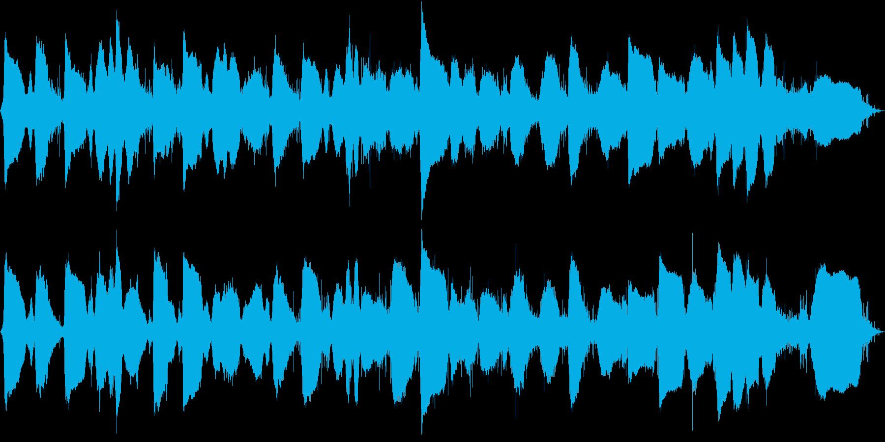静かな波音 エレキギターバイオリン奏法 の再生済みの波形