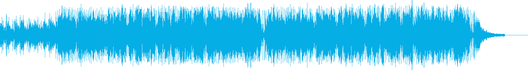 青い大海原をクルージングしているイメージの再生済みの波形