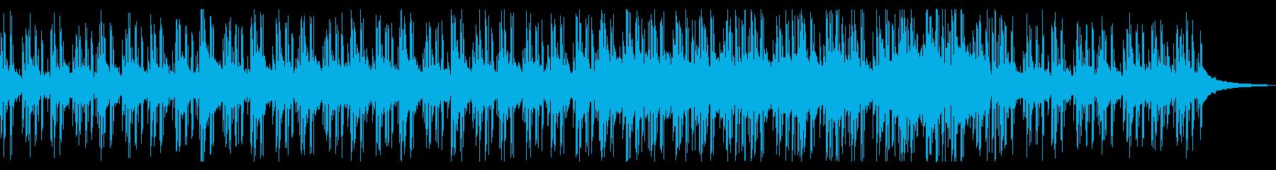 お洒落で幻想的なメロディーの再生済みの波形