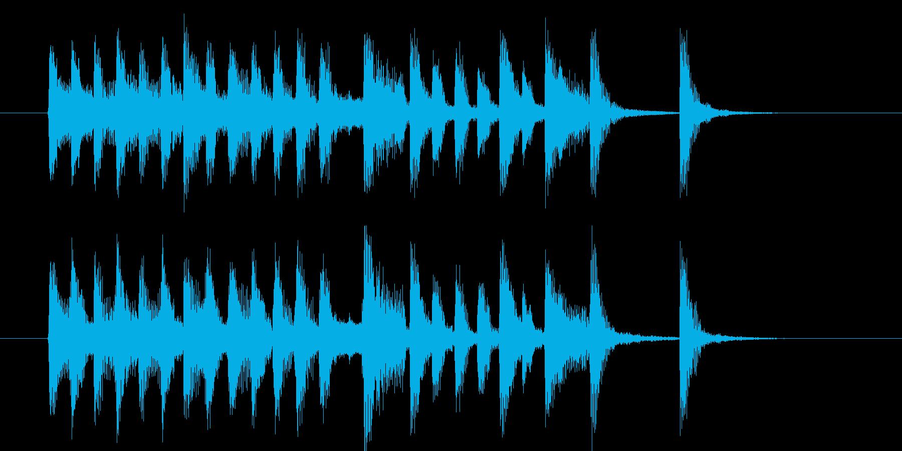 可憐でキャッチ―なポップピアノジングルの再生済みの波形