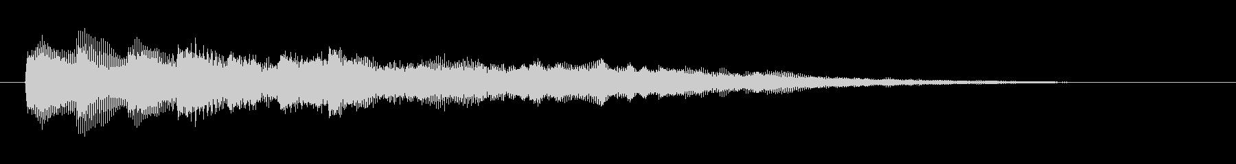 ピアノ&シンセのサウンドロゴ/ジングル1の未再生の波形