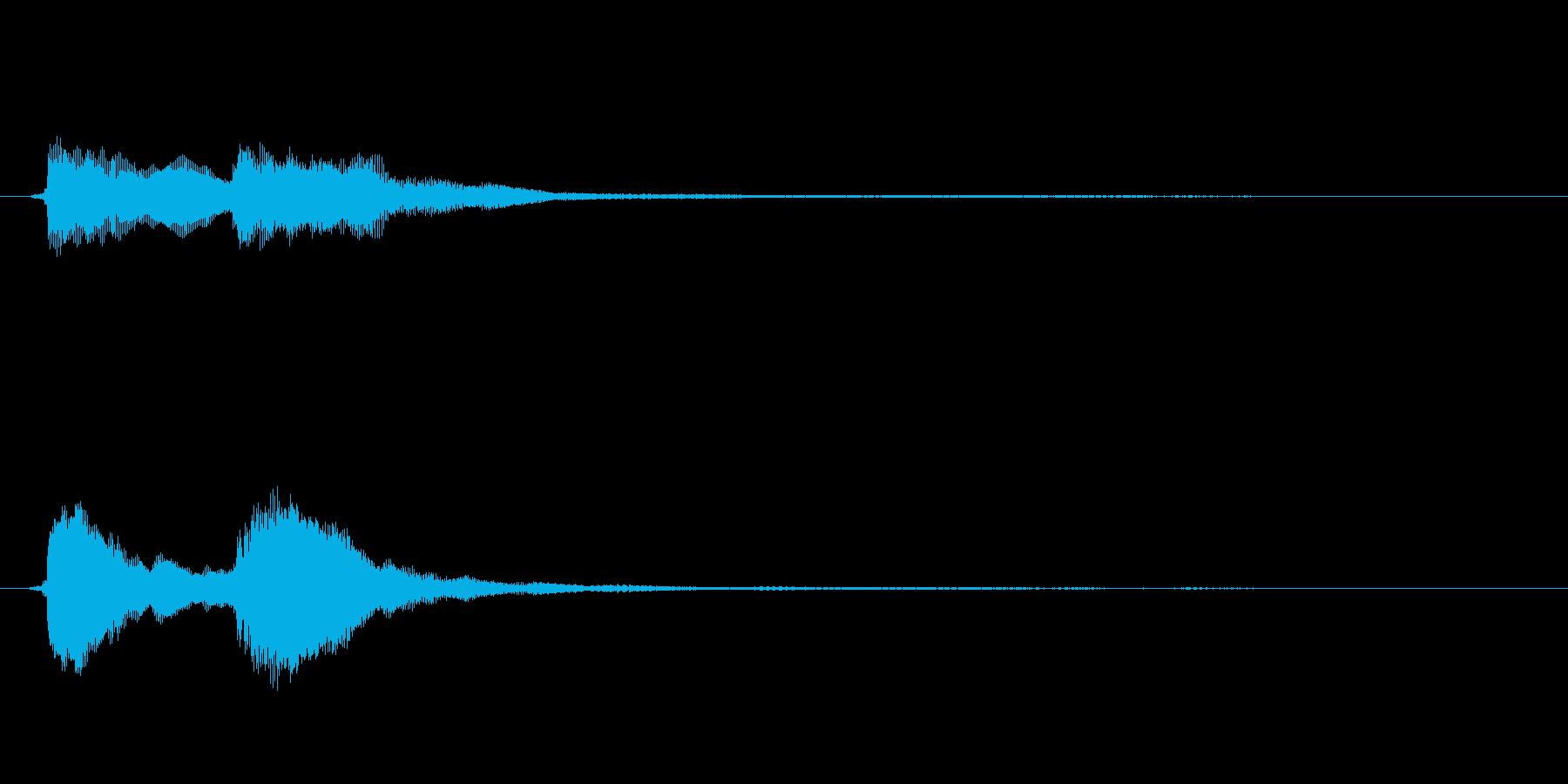 ボタン音、たたん、上から下に下りる音。の再生済みの波形