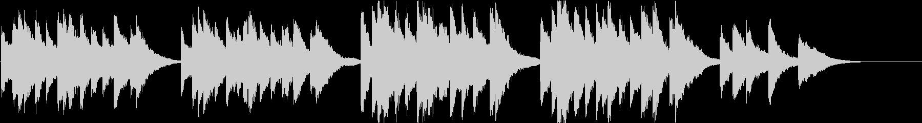 時報・チャイム風の名曲のメロディ・21の未再生の波形