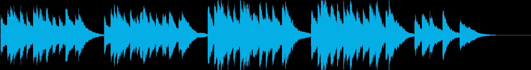 時報・チャイム風の名曲のメロディ・21の再生済みの波形