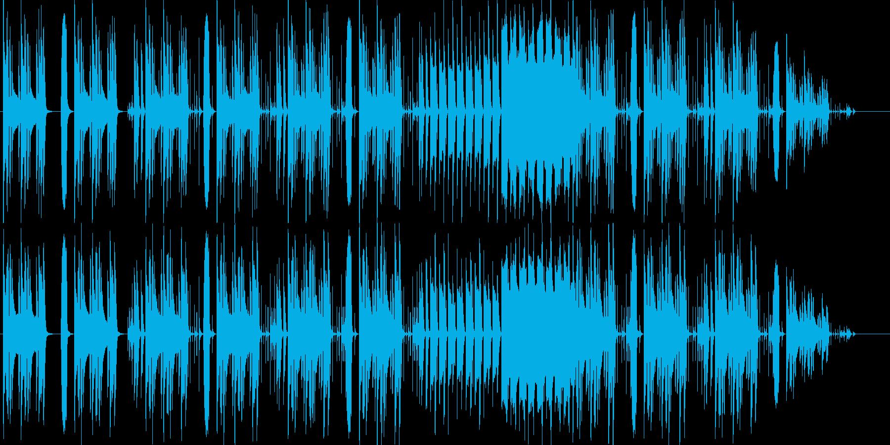 リコーダーなどほのぼの日常系BGMの再生済みの波形