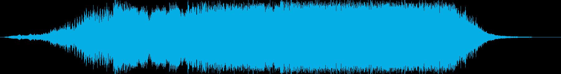 重厚感のあるファンファーレ02の再生済みの波形