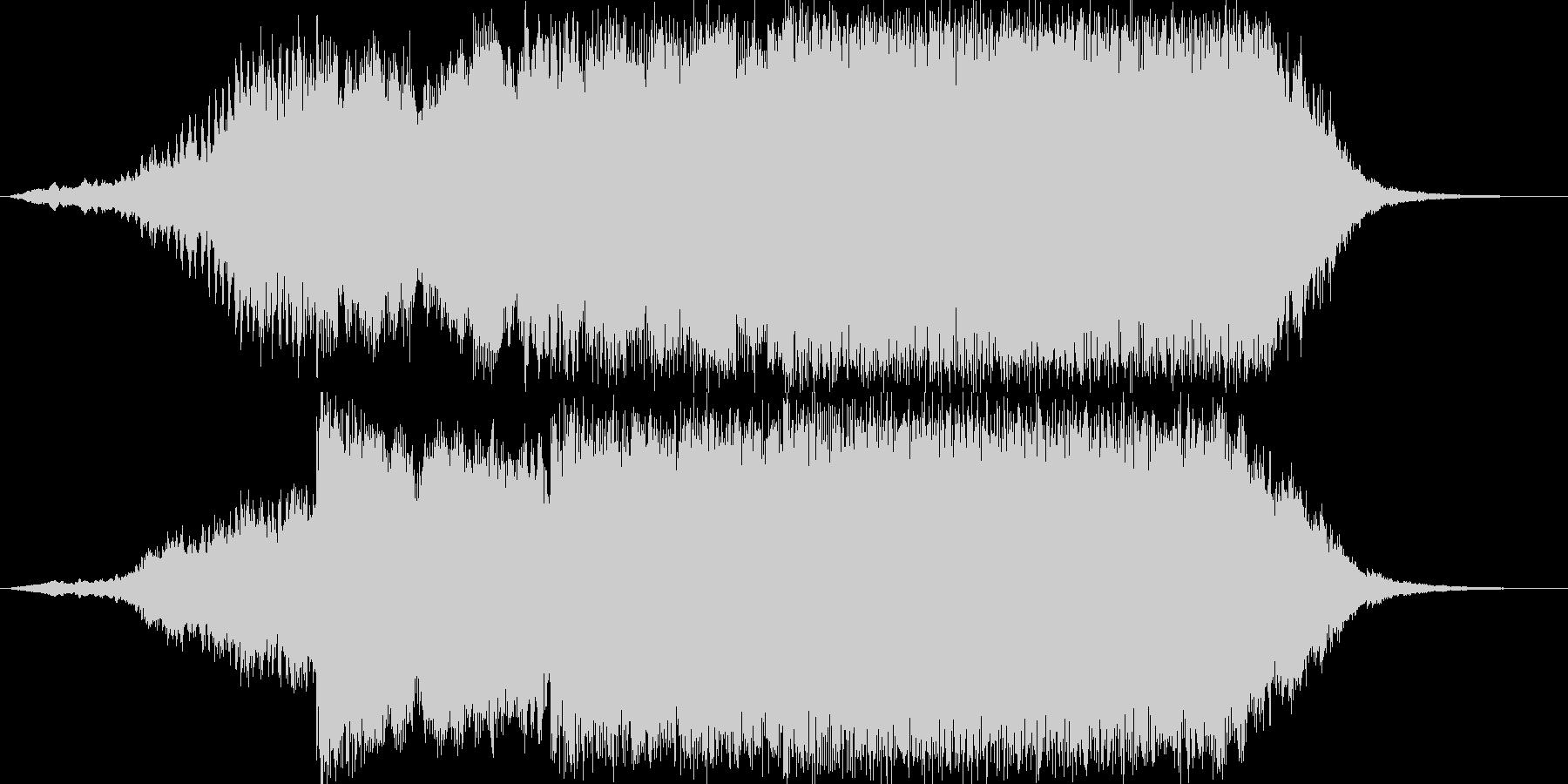 重厚感のあるファンファーレ02の未再生の波形