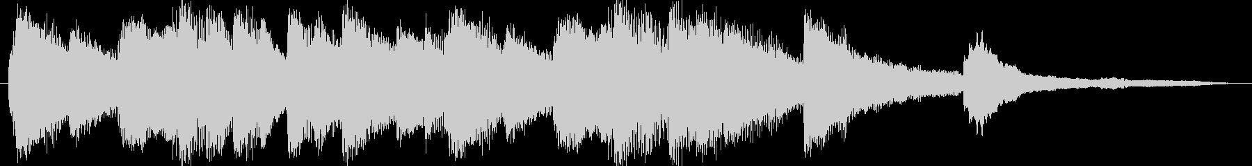 きれいな旋律のピアノソロジングルの未再生の波形